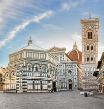 Duomo Square, Cathedral Of Santa Maria Del Fiore, Giotto's Bell Tower, Baptistery Of San Giovanni