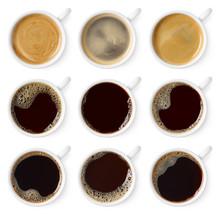 Set Of Various Black Coffee Cups