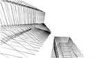 Fototapeta Do przedpokoju - Abstract modern architecture building 3d illustration