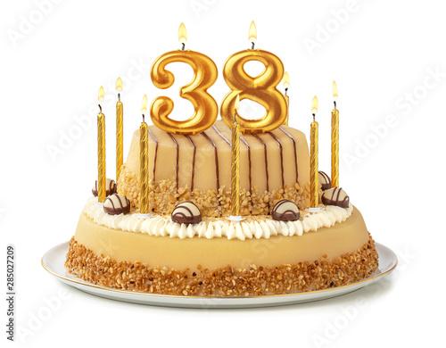Papel de parede Festliche Torte mit goldenen Kerzen - Nummer 38