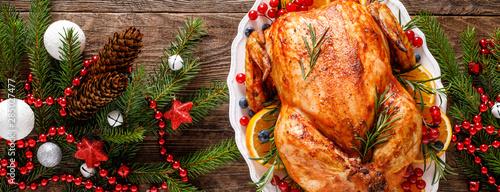 Christmas turkey Fototapeta
