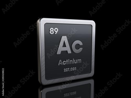 Actinium Ac, element symbol from periodic table series Canvas Print