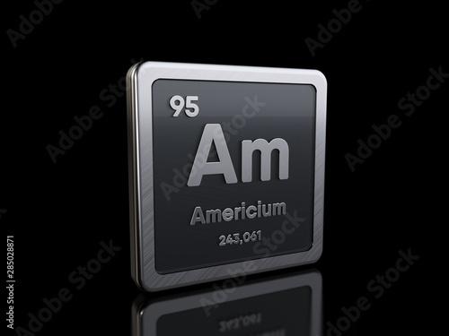 Americium Am, element symbol from periodic table series Canvas Print