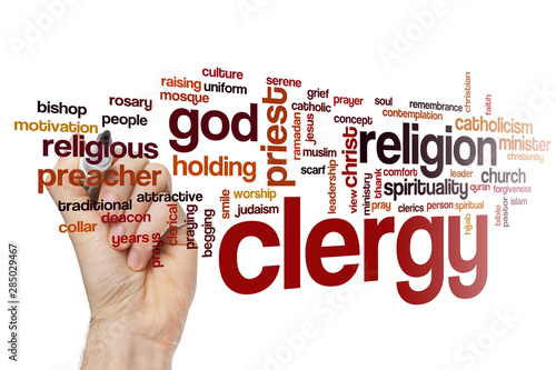 Clergy word cloud Wallpaper Mural