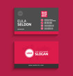 Vector modern clean flat corporate minimalist and creative business card template with elegant shape and popping colors and nice backgrounds