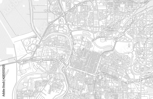 Fotografia Sacramento, California, USA, bright outlined vector map