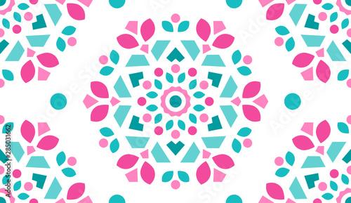 Fototapeten Künstlich Colorful Ornamental Pattern. Endless Background. Seamless