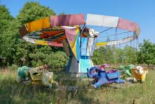 Old Abandoned Elephant Carouse...