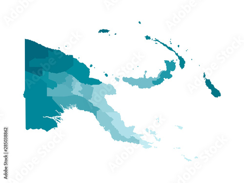 Obraz na plátně Vector isolated illustration of simplified administrative map of Papua New Guinea