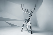 Low Poly Mirror 3D Deer Model....