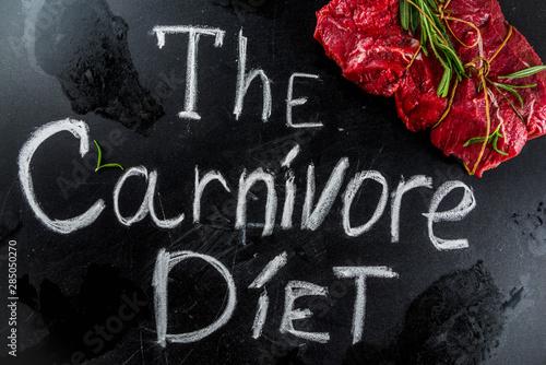 Stampa su Tela Carnivore diet background