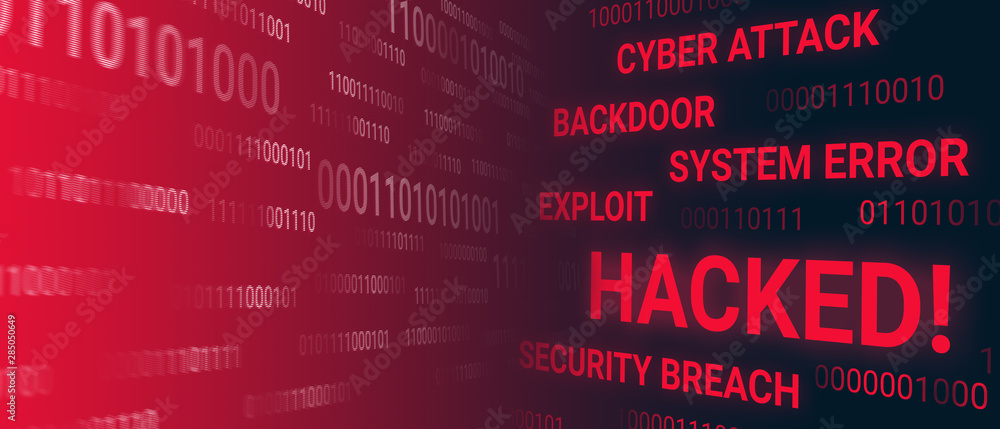 Fototapeta Hacked system concept