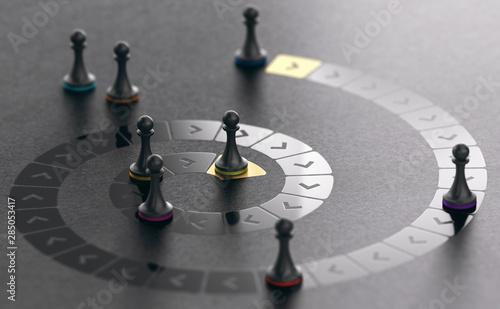 Fototapeta Career path, Promotion Concept obraz
