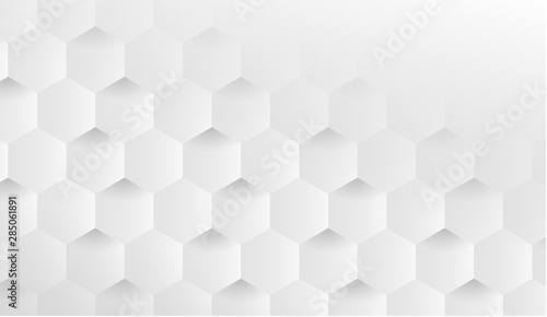 Hexagonal geometric background with cubes Fototapet