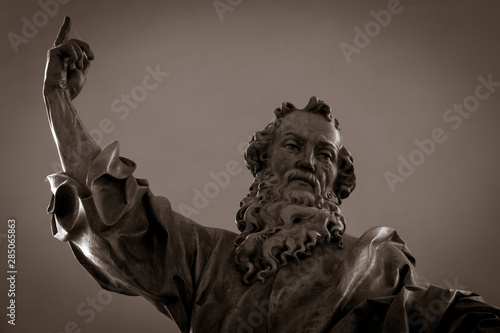 Fotografie, Obraz  Gothic statue in a church