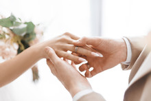 Beautiful Wedding Rings. Bright Photos Of Wedding Accessories. Subject Photography.
