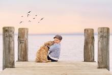 Herbst Am See - Romantischer Moment
