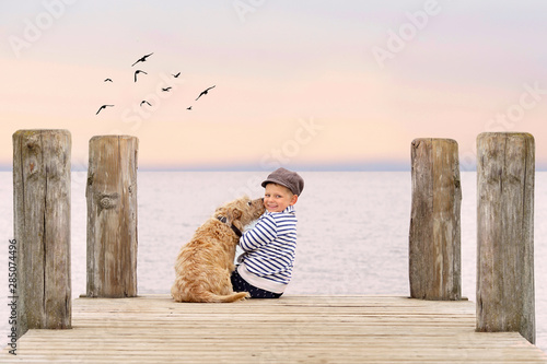 Fototapeta  Herbst am See - romantischer Moment