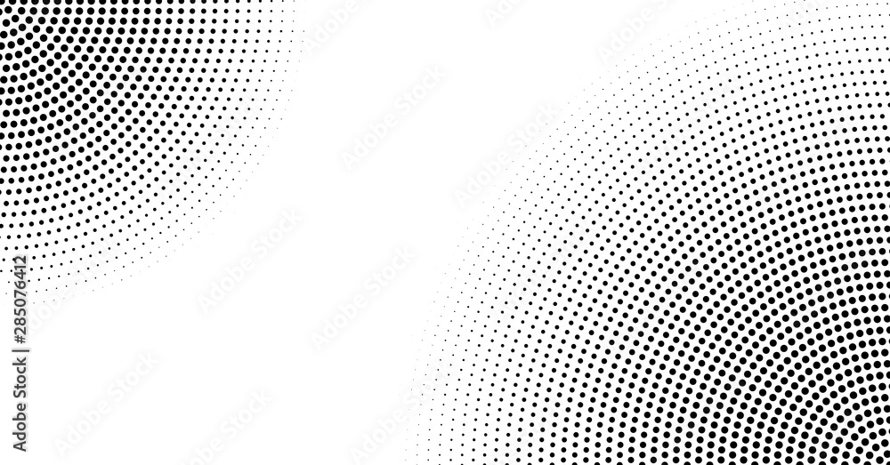 Fototapeta Halftone vector background. Monochrome abstract dotted gradient backdrop
