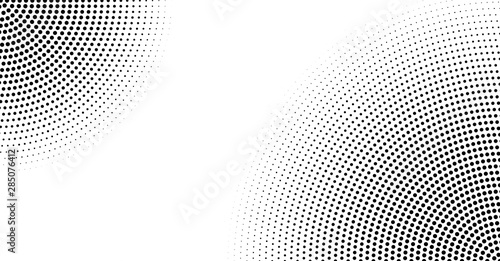 Halftone vector background. Monochrome abstract dotted gradient backdrop