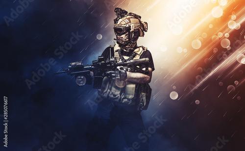 Pinturas sobre lienzo  special forces soldier , military concept