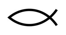 Christian Fish Symbol. Jesus F...