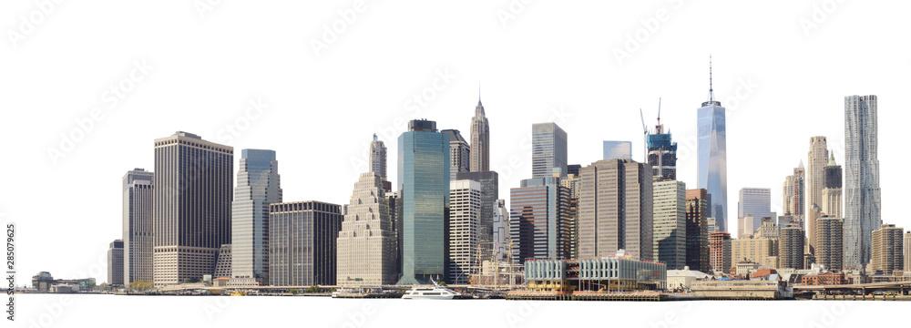 Fototapety, obrazy: Manhattan skyline isolated on white.