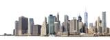 Fototapeta Fototapeta Nowy Jork - Manhattan skyline isolated on white.