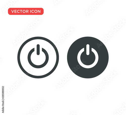 Fotomural  Power Button Icon Vector Illustration Design