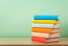 Education Concept With Stack O...