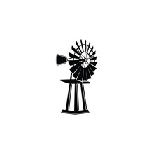 Vector Of A Windmill As A Symbol