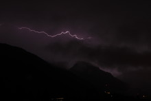 Lightnings In The Mountains On...