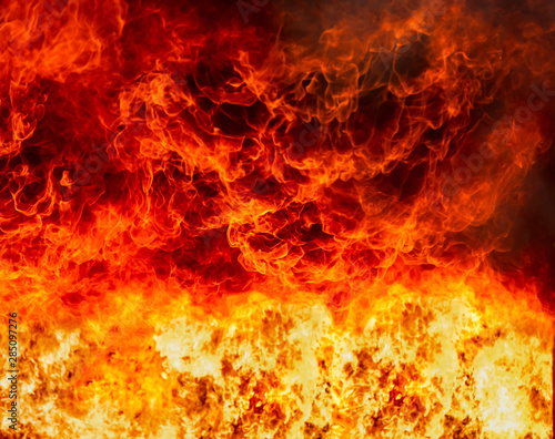 Abstract of blaze fire flame texture for background. Wallpaper Mural