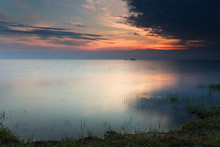 Sunset At Cape Hatteras, North Carolina