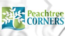 3D Emblem Of Peachtree Corners (Georgia), USA. 3D Illustration.