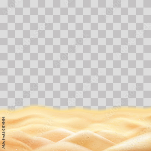Beach sand for design, sea sand template on transparency background.