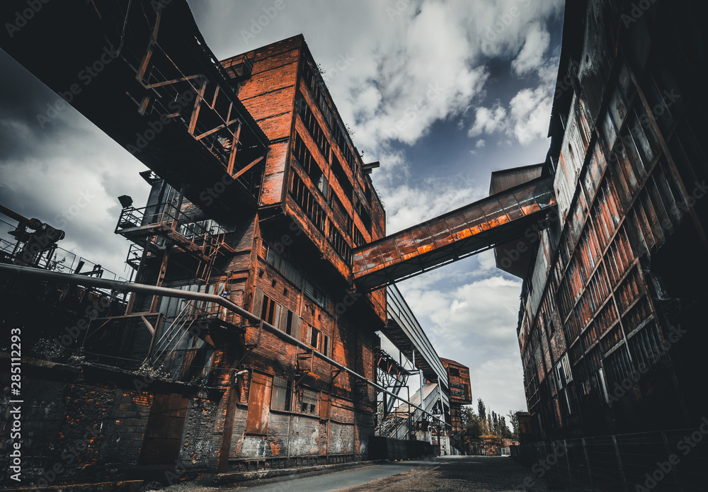 Old and rusty steel factory in Ostrava