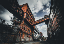Old And Rusty Steel Factory In...