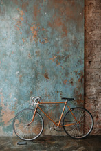 Retro Bicycle Against The Wall