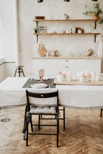 Interior Of Dining Room With T...