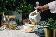 Warm Chamomile Tea For Cold Ni...