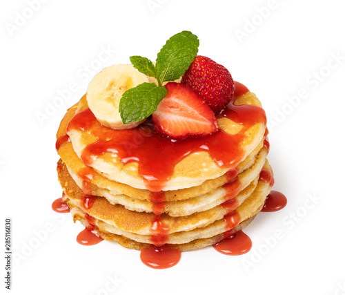 Pancakes with fresh berry Canvas Print