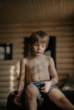 Summer Portrait Of A Little Boy