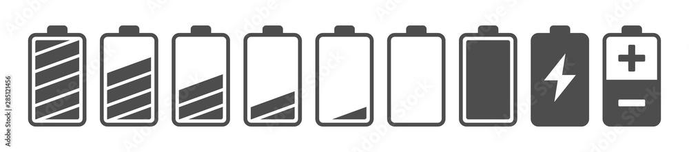 Fototapeta Battery capacity charge icon symbols