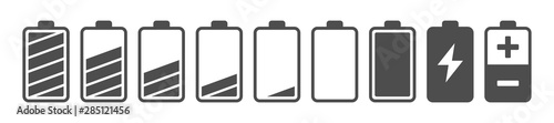 Obraz Battery capacity charge icon symbols - fototapety do salonu
