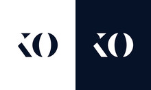 Abstract Letter KO Logo. This Logo Icon Incorporate With Abstract Shape In The Creative Way.