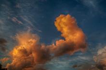 Large Fiery Orange Thick Cloud...