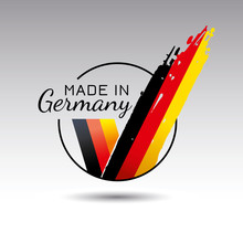 Made In Germany Quality Label On The White Background.