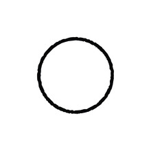 Ink Circle Grunge Vector. Spac...