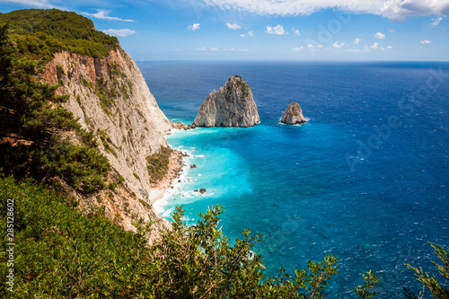 Keri cliffs in Zakynthos (Zante) island in Greece Canvas Print